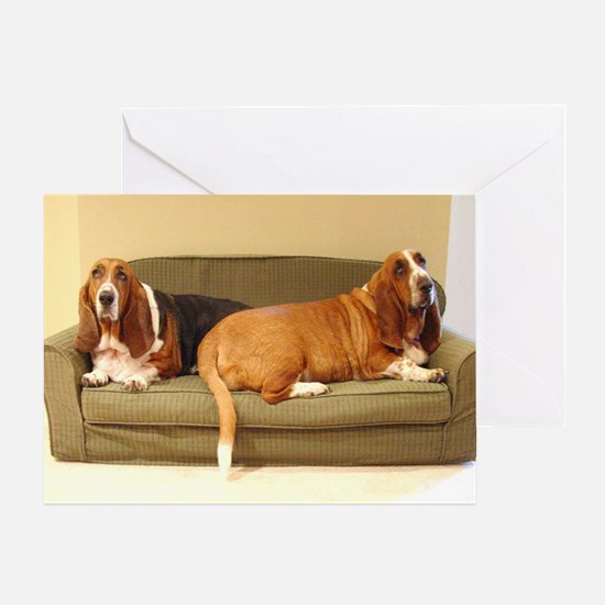 Basset Hounds Greeting Card