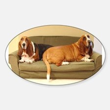 Basset Hounds Oval Decal