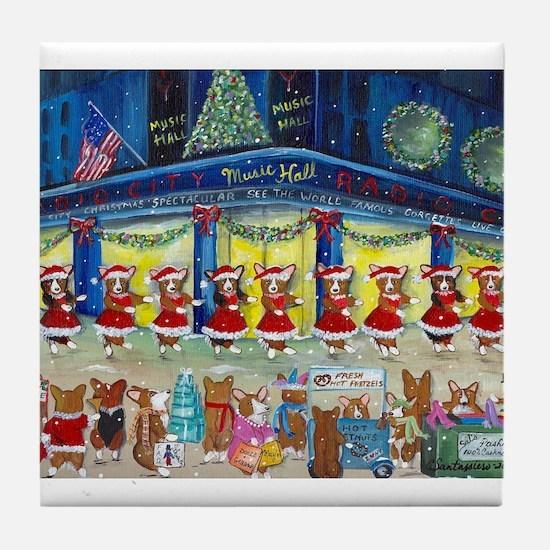 A Christmas Corgi Spectacular Tile Coaster