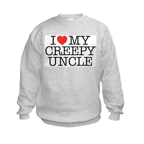 I Love My Creepy Uncle Kids Sweatshirt