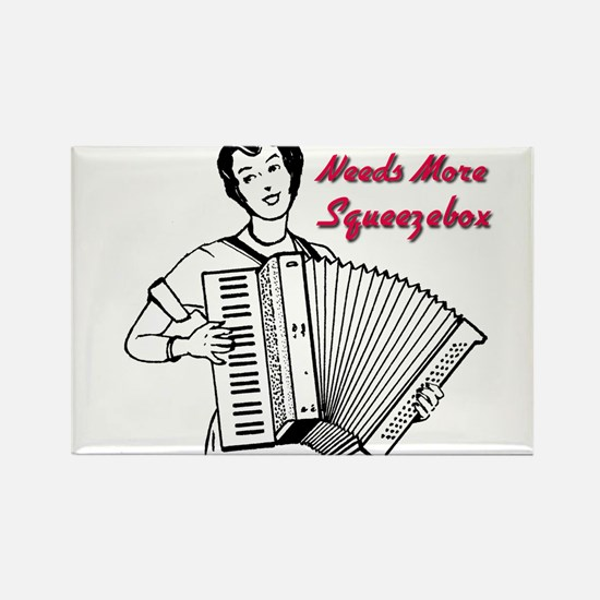 Cute Accordian Rectangle Magnet