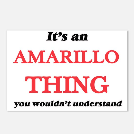 It's an Amarillo Texa Postcards (Package of 8)