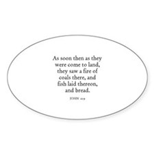 JOHN 21:9 Oval Decal