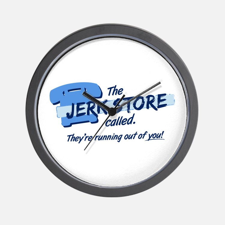 """""""Jerk Store"""" Wall Clock"""