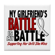 My Battle Too 1 PEARL WHITE (Girlfriend) Tile Coas