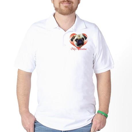 Pug Valentine Golf Shirt