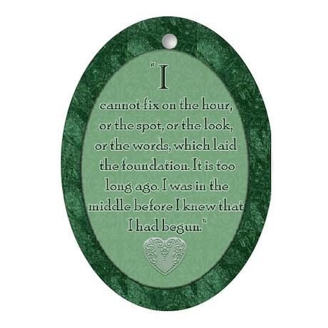 P&P Quote Oval Ornament