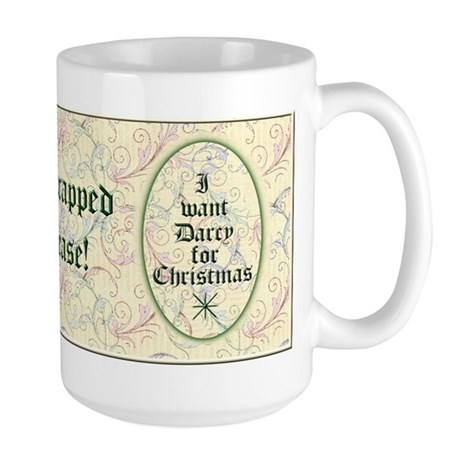I Want Darcy for Christmas Large Mug