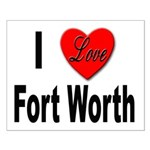 I Love Fort Worth Texas Small Poster