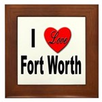 I Love Fort Worth Texas Framed Tile