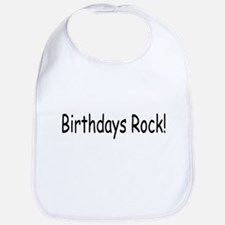 Birthdays Rock Bib