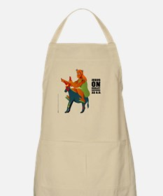 Jesus on Harley (the Messiah Donkey) BBQ Apron