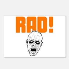 Rad Zombie Head Postcards (Package of 8)