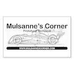 Mulsannes Corner Rectangle Sticker