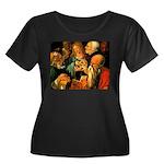 Doctors Women's Plus Size Scoop Neck Dark T-Shirt