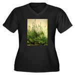 Turf Women's Plus Size V-Neck Dark T-Shirt
