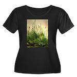 Turf Women's Plus Size Scoop Neck Dark T-Shirt