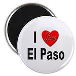 I Love El Paso Texas Magnet