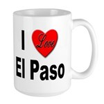I Love El Paso Texas Large Mug
