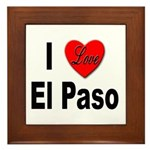 I Love El Paso Texas Framed Tile