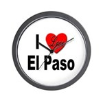 I Love El Paso Texas Wall Clock