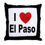 I Love El Paso Texas Throw Pillow