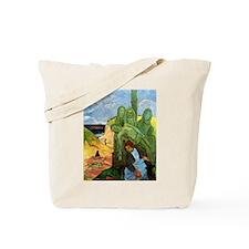 Green Christ Tote Bag