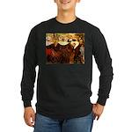 Four Breton Women Long Sleeve Dark T-Shirt