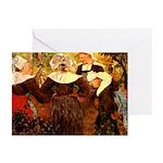 Four Breton Women Greeting Cards (Pk of 20)