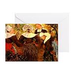 Four Breton Women Greeting Card