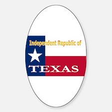 Texas-4 Oval Decal