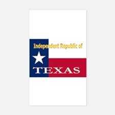 Texas-4 Rectangle Decal