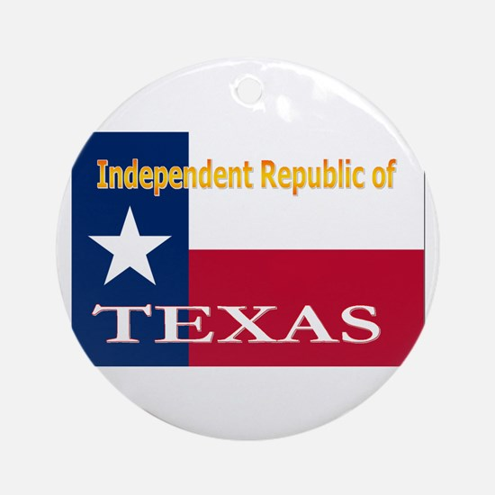 Texas-4 Ornament (Round)
