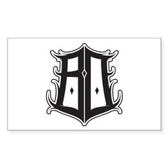BO SHIELD BY ZISTO Rectangle Decal