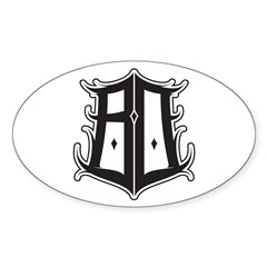 BO SHIELD BY ZISTO Oval Decal
