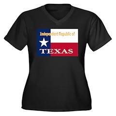 Texas-4 Women's Plus Size V-Neck Dark T-Shirt
