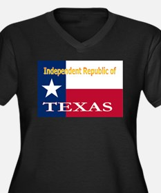 Texas-4 Women's Plus Size V-Neck Dark T-Shirt