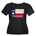 Texas-4 Women's Plus Size Scoop Neck Dark T-Shirt