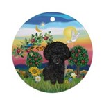 Bright Country & Black Toy Poodle Ornament (Ro