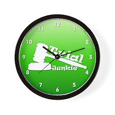 Trial Junkie (green) Wall Clock