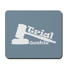 Trial Junkie (light blue) Mousepad