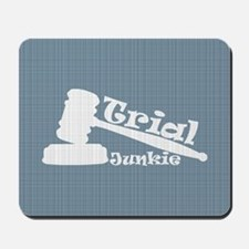 Trial Junkie (light blue) Mousepad
