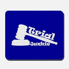 Trial Junkie (blue) Mousepad