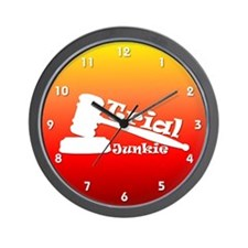 Trial Junkie (sunset) Wall Clock