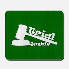 Trial Junkie (green) Mousepad