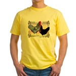 Black SL Chickens Yellow T-Shirt