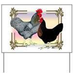 Black SL Chickens Yard Sign