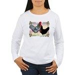 Black SL Chickens Women's Long Sleeve T-Shirt
