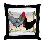 Black SL Chickens Throw Pillow