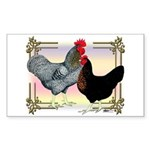 Black SL Chickens Rectangle Sticker